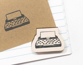 Rubber stamp typewriter, stamp vintage typewriter, writer stamps, typewriter stamps, gift for journalist, crafty, teacher gifts, stationery