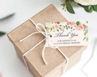 Wedding Favor Tags - Thank You Tag - Editable Tag - Bridal Shower Favor Tag - Favour Tag - Wedding Favor Tag - DIY Printable Thank You Tag