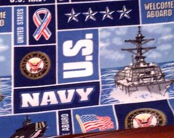U.S. Navy Military Fleece Throw