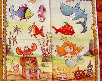 2 paper towels / Napkins Mermaid VIELSEIDIG VERLAG