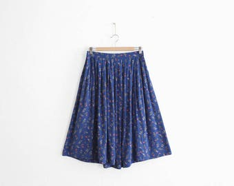 Flower Print Skirt - 100% Rayon - Handmade