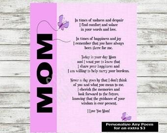 Mom Poem Print, Mum Poem, Mother Poem, Mom Poetry Gift, Mother's Day Gift, Mom Printable Gift, Mother Birthday Print, Instant Download