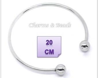 Pandora chamilia beads compatible 20 cm metal Bangle