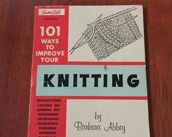 Vintage Knitting Instruction Book by Barbara Abbey 1972