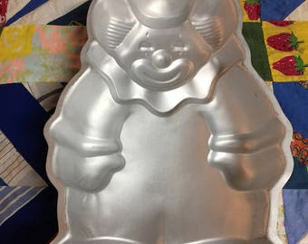 Vintage Wilton Cake Pan of a Clown 1986
