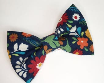 Bow Tie , Navy Floral Bow Tie, Blue bow tie
