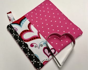 Heart Pot Holder & Cookie Cutter