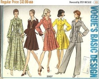 25% OFF Vogue 2807   Misses Dress, Tunic and Pants     Size 12  uncut