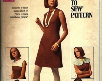 25% OFF 1960s Simplicity 8060    Junior Petites/Misses Dress with Detachable Collar   Size 12