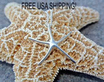 Star fish/ necklace/ Starfish sterling silver necklace/ starfish necklace/ Beach necklace