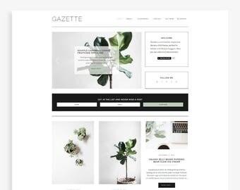 Gazette • Responsive Blogger Template • Fashion Blog Theme • Minimalist Blog Design.