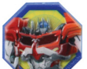 12 Transformers Optimus Prime Cupcake Rings Cake Decor Toppers L2CL
