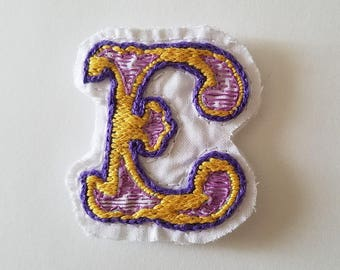 Letter E Embroidered Magnet
