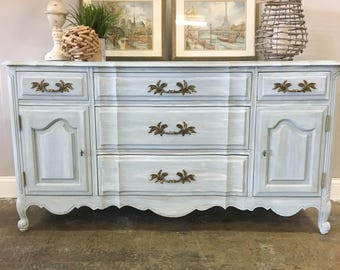 AVAILABLE: Blue French Provincial Buffet