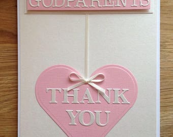 Thank you cards for Godparents Godmother Godfather Grandparents Grandmother Grandfather