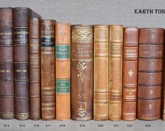 Antique Leather Bound Books for Decoration - 1780 to 1930