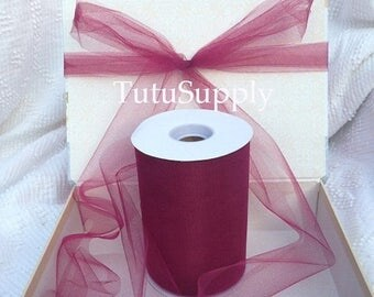 BLOWOUT Wine Tulle Roll, tulle roll, tulle fabric, tulle spool, tutu supply, wholesale tulle, tulle rolls, tutu fabric, tutu supplies, roll