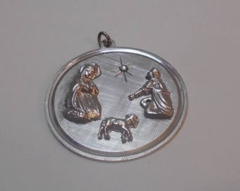ON SALE Sterling Silver Religious Charm