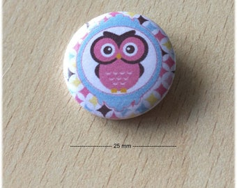 "badge 25 mm ""OWL 03"""