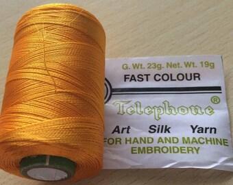 Rayon thread / artificial silk sunflower 61