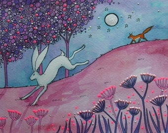 Leaping Hare high quality print