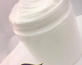 Unscented Curl Cream: Rich and thick daily moisturizer & styling cream Smooths dry tangled and thick coils.  With raw shea butter.