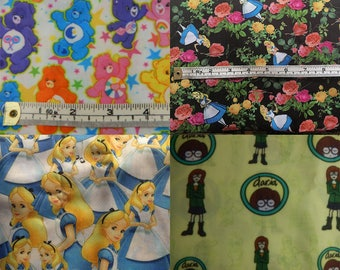 Alice in Wonderland, Care bears or Daria cartoon fabrics! CHOOSE DESIGN!