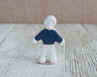 Boy - Teacher - Son - Friend - Father - Gift Idea - In Remembrance - Blue Sweater - Lapel Pin