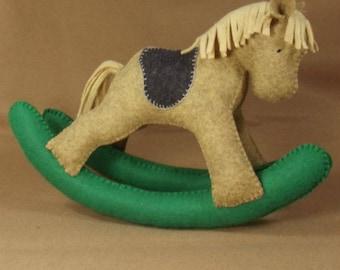 Felt Plush Rocking Horse PDF pattern and Tutorial, Rocking Horse, Felt Rocking Horse, Sewing pattern, Toy rocking horse PDF