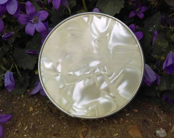 Vintage celluloid compact mirror,travel mirror,bridesmaid gift,handbag mirror,pearl colour mirror, old compact mirror,antique mirror,wedding