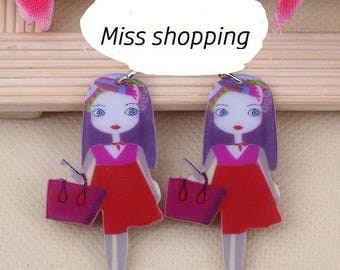 X 1 Miss and her red acrylic purse