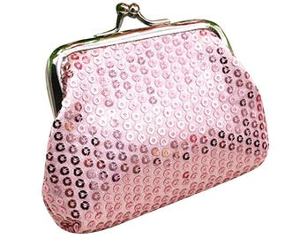 Coin 1 X pink pale sequin