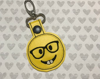 Nerd Emoji Keychain