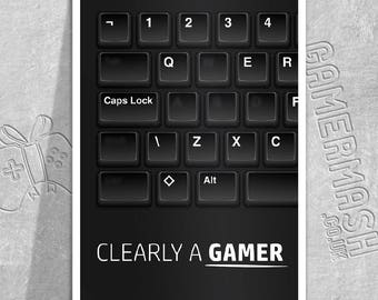Clearly A Gamer - A5 Greeting Card