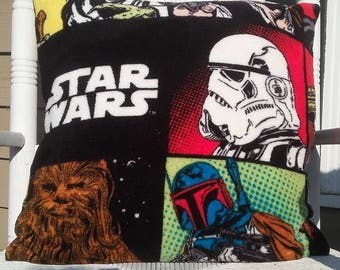 Cozy Fleece Star Wars Pillow