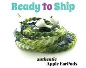 Wrapped Headphones for iPhone, Handmade iPhone Headphones, Custom Headphones, iPhone EarPods Tangle Free Earbuds FUNKADELIC
