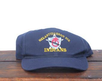 Vintage 90's Helantisubron 6 Indians Anti Submarine Helicopter Squadron Military Navy Snapback Hat Baseball Cap