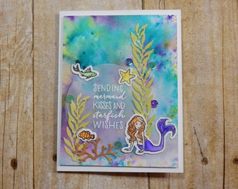 Encouragement Greeting Card / Handmade / Blank Inside Greeting Card / Stamped Greeting Card / Just Because Greeting Cards