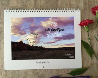 Drawings wall calendar 2018, surreal calendar, fantasy calendar, motivational quotes calendar 2018, inspirational quotes wall calendar 2018,
