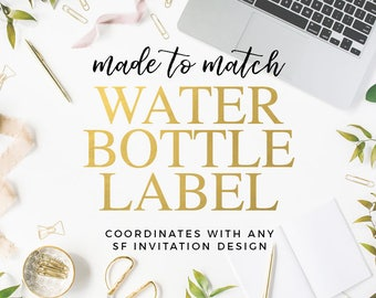 Made to Match Water Bottle Label