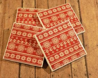 Christmas Snowflake Coasters