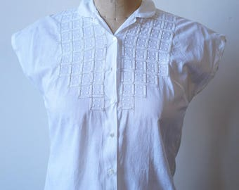 1950s Cotton Blouse