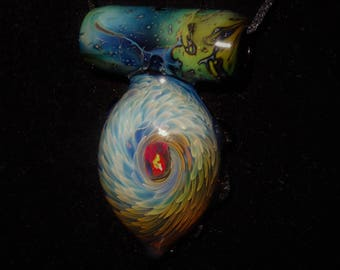 Handblown Glass Opal Pendant