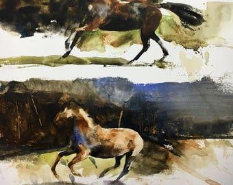 "1152 original watercolor 9x12"". Unframed."