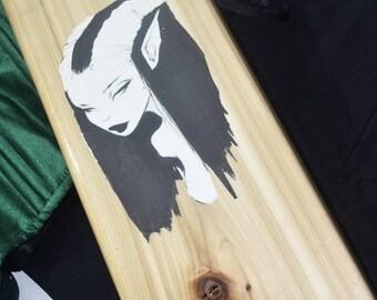 BDSM Art - Sexy Devil Girl & Goth Skulls - BDSM sex spanking toy