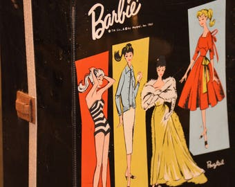 Vintage Barbie Case, Barbie Clothes, Shoes, Accessories