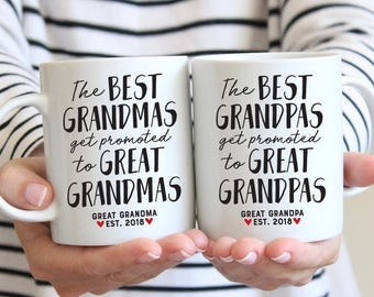 Great Grandparents Pregnancy Announcement, Great Grandparents Pregnancy Reveal to Great Grandparents, Mug Gifts for Great Grandparents To Be
