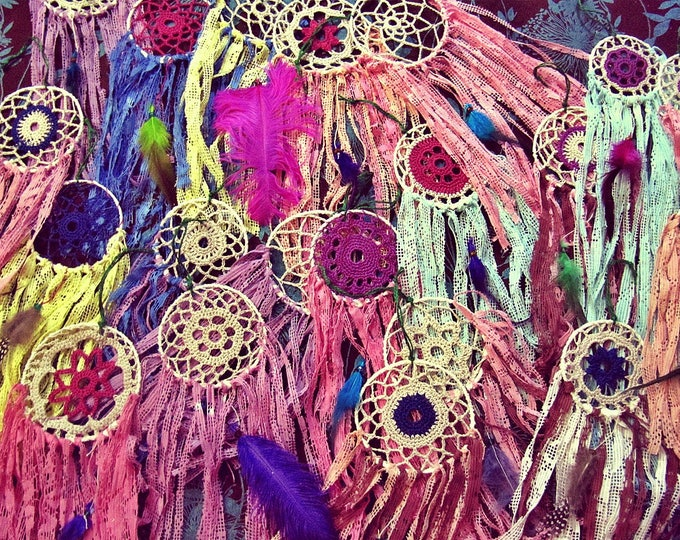 Boho Baby Shower Decoration - Dreamcatchers Party Favors - Baby Shower Gifts for Guests - Hippie Party Decor - Bohemian Dream Catcher