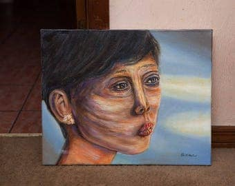 Oil Painting of Asian Woman