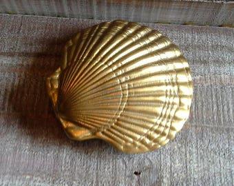 Vintage Brass Shell Door Knocker